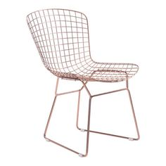 Buy the Zuo Modern 100361 Rose Gold Direct. Shop for the Zuo Modern 100361 Rose Gold Wire Wide Steel Frame Armless Dining Chairs - (Set of and save. Wire Dining Chairs, Modern Dining Chairs, Dining Chair Set, Side Chairs, Dining Rooms, Dining Area, Desk Chairs, Dining Table, Rose Gold Room Decor