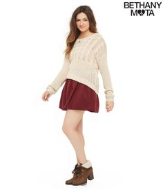 Cable Knit Sweater - Aeropostale