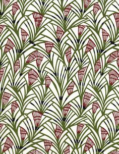 Katazomeshi paper-(Fronds and lilies--Japanese paper place) Japanese Textiles, Japanese Patterns, Japanese Prints, Japanese Design, Japanese Paper, Japanese Fabric, Surface Pattern Design, Pattern Art, Abstract Pattern