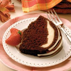 Chocolate Cream Filled Cake Recipe from Land O'Lakes. The cake works, but my filling becomes very runny... I wonder why... -Nita-