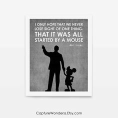 "Inspired by the ""Partners"" Statue at Disney, Walt Disney and Mickey Mouse. Art print available at capturewonderss.etsy.com"
