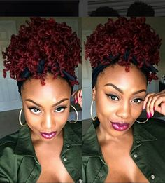 Red Hot Curly Locs IG:@patience_edet #naturalhairmag