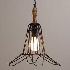 Bronze Flower Torch Lamp