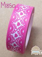 Washi Tape encaje corazon rosa