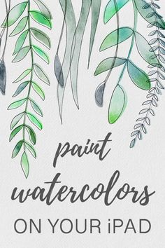 How to Paint Watercolor Leaves on Your iPad in Procreate + FREE Digital Watercolor Brushes Watercolor Leaves, Watercolor Paintings, Watercolor Brushes, Painting Art, Watercolors, Ipad Kunst, Affinity Photo, Affinity Designer, Ipad Art