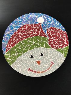 Christmas Crafts For Gifts, Craft Gifts, Christmas Decorations, Art Of Glass, Stained Glass Art, Christmas Mosaics, Diy And Crafts, Arts And Crafts, Mosaic Stepping Stones