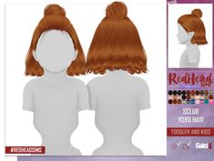Sims 4 Hairs Coupure Electrique: S-Clubs Yoyo hair retextured kids and toddlers versions The Sims 4 Pc, Sims Four, Sims 4 Cas, My Sims, Sims Cc, Sims 4 Toddler Clothes, Sims 4 Cc Kids Clothing, The Sims 4 Bebes, Pelo Sims