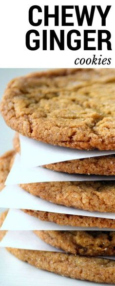 Chewy Ginger Cookies are everybody's favorite fall cookie ~ http://theviewfromgreatisland.com