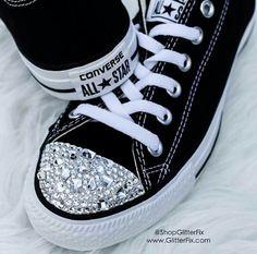 Customized All Star Converse w/Swarovski Rhinestones by GlitterFix.com