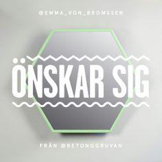 Spegel Hexagon grön - Betonggruvan via Betonggruvan. Click on the image to see more!