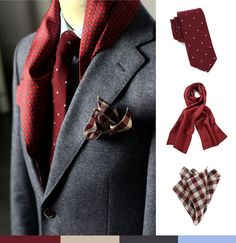 The burgundy suit is a great style statement. Here is how you can alter your style entirely with a simple addition of a pocket square.