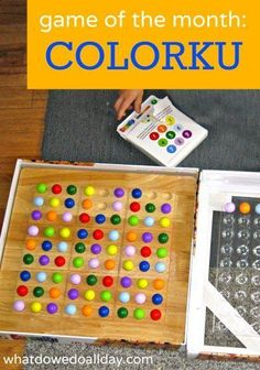 Use this game to practice fine motor skills for younger kids. Also good for pre-math learning.