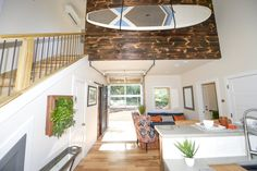 glass garage doors kitchen. Urban Micro Home By Wind River Tiny Homes - Glass Garage Door, Stand Up Paddle Doors Kitchen