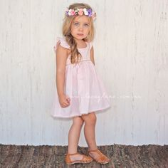 Hailey Dress #baby #blue #childrens-fashion #cotton #designer #dress #exposed-zip #fairy-dress #floral #frill #frilly #kidsfashion #lacey-lane #low-back #pink #rose #toddler
