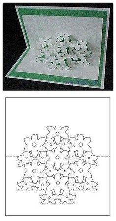 Красивые открытки в технике киригами