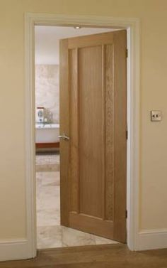Internal & External Hardwood & Oak Doors by TradeFlooring. Wood Doors that leave a lasting first impression on anyone who enters your home. 3 Panel Interior Doors, Interior Shutters, Barn Door In House, House Doors, External Wooden Doors, Pine Wood Flooring, Hanging Barn Doors, Oak Doors, Front Doors
