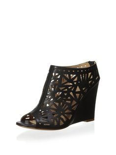 Nicole Miller Cayman - Black -- For more information, visit now : Wedges Shoes
