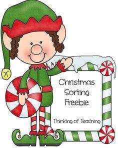 Classroom Freebies Too: Sorting....Christmas Style