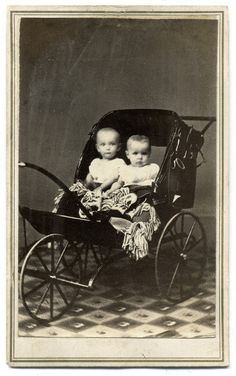 https://flic.kr/p/Kpgosh | Two Babes in a Three-Wheel Carriage | Carte de visite…