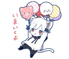 kobayashi-san chi no maid dragon elma chibi stiquer Dibujos Anime Chibi, Cute Anime Chibi, Anime Neko, Anime Guys, Anime Art, Anime Stickers, Cat Stickers, Neko Kawaii, Neko Boy