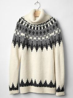the perfect chunky fair isle turtleneck for winter - just ordered this one, and cannot wait for it to arrive!!!