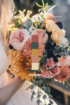 Wedding color scheme fall Pantone 2017. #pantone #pantonecoloroftheyear #2017weddings