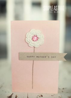Simple handmade Mother's Day card ideas. #mothersday