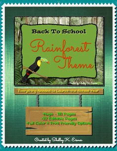 $Organize you gear and pack your supplies as you venture into the new year with this  Back to School, Rainforest Theme Super Pack.  The 115 page file has EVERYTHING you need to plan a successful journey!  From decorating and organizing your room, setting up a successful Open House, and leading an exciting first week filled with theme activities and materials, this printable pack includes ALL you need. 32 of the pages are EDITABLE giving you the option to customize for your exact needs. Classroom Design, Classroom Resources, Classroom Themes, Fourth Grade, Third Grade, School Stuff, Back To School, Rainforest Theme, Organizing