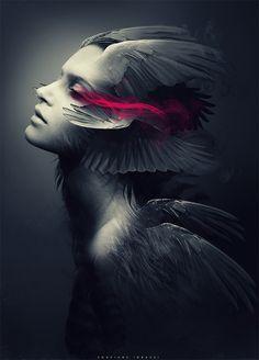 WINGED ANGEL 2 by soufiane idrassi, via Behance