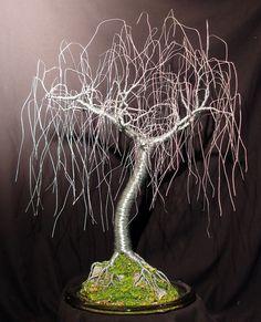 Gentle Willow  wire tree sculpture Original by salvatore7 on Etsy, $595.00