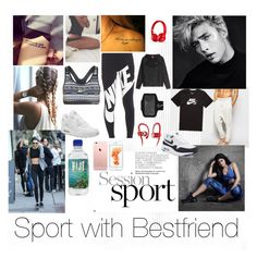 """Sport with Kendall,Kylie Jenner and Lucky Blue Smith "" by ceeliiaaa on Polyvore featuring mode, ASOS, NIKE et Beats by Dr. Dre"