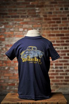 "Truck Drivin ""Southern Boys Love Their Toys"" and Southern Girls love their Boys!!!! Tshirt from BourbonandBoots.com $24"
