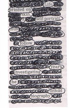 newspaper blackout poems~love doing these with students!