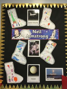 Neil Armstrong time line display Space Preschool, Space Activities, Learning Activities, Neil Armstrong For Kids, Advent 2016, Tim Peake, People Who Help Us, Moon Crafts, Man On The Moon
