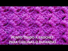Punto tejido a ganchillo # 7 para chalinas o bufandas - YouTube