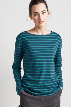 New Seasalt 10-20 Boslowick Striped Nautical Off White Cotton Sweatshirt Top