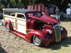 1937 Chevrolet Custom Woodie! Big Trucks, Ford Trucks, Vintage Cars, Antique Cars, Chevy, Chevrolet, Old Hot Rods, Woody Wagon, Walk To Remember