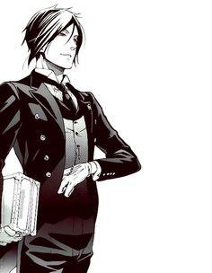 Una imagen de Sebastian en él manga. Simplemente PERFECTO ( ˘ ³˘)♥ CRÉDITOS A QUIEN CORRESPONDA