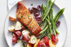 Lemon-Dijon Salmon With Potatoes and Green Beans