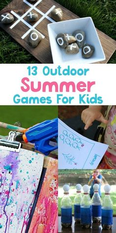 Check out these 13 Outdoor Summer Games For Kids! They're perfect for any occasion including summer playdates, day camps, VBS and backyard barbecues.