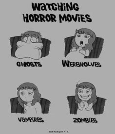 ♥ zombies ♥ haha this is true about Zombies but i love all horror movies