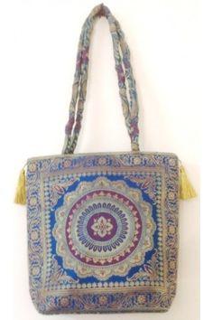 Ethnic Bag - Printed Blue