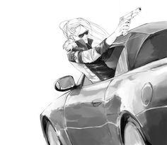 Katekyo Hitman REBORN!, Superbi Squalo, Car, Sunglasses