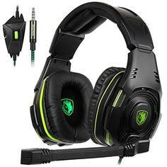 SADES SA-938 Multi-platform Gaming Headset mit Mic 3.5MM Klinkenstecker In-Line-Lautstärkeregelung Over-Ear-Kopfhörer Für Neu Xbox One/PC/PS4/Smartphones