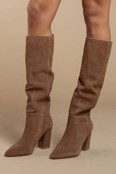 Raddle Suede Boots Looking for the Steve Madden Raddle Tan Suede Boots? Thigh High Boots, High Heel Boots, Over The Knee Boots, Cowgirl Boots, Women's Boots, Snow Boots, Riding Boots, Steve Madden, Outfits