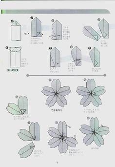 Rare Origami Cherry Blossom Diagram Download - Paper Kawaii