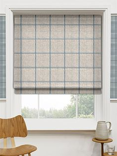 Washington Still Blue Roman Blind from Blinds 2go