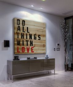 Marmont Hill Do All Things With Love Wood Wall Art | zulily