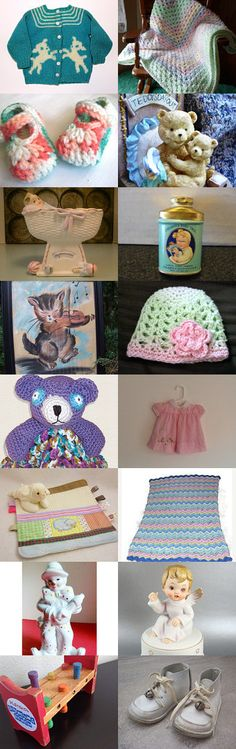 Christmas for Baby TeamVintageUSA by Rita Scott on Etsy--Pinned with TreasuryPin.com