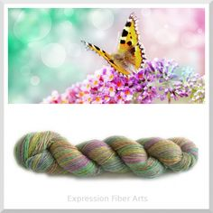 "Expression Fiber Arts - FLUTTERBY - Limited Edition ""Chameleon Color Shift"" Superwash Merino Wool Sock Yarn 3.5 oz/ 437 yd, $22.00 (http://www.expressionfiberarts.com/products/flutterby-limited-edition-chameleon-color-shift-superwash-merino-wool-sock-yarn-3-5-oz-437-yd.html)"